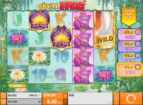 Игровые автоматы на деньги - Royal Frog онлайн