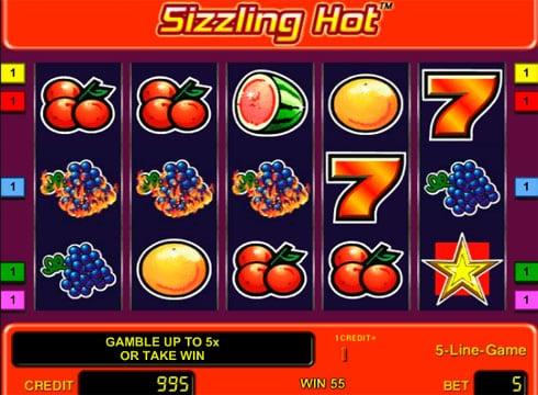Игровые автоматы с моментальным выводом денег Sizzling Hot