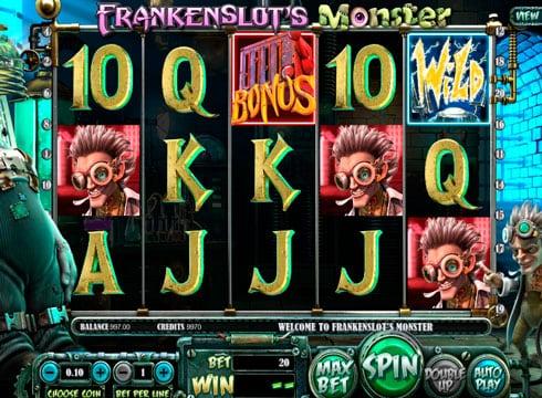 Игровые автоматы на деньги - Frankenslots Monster онлайн