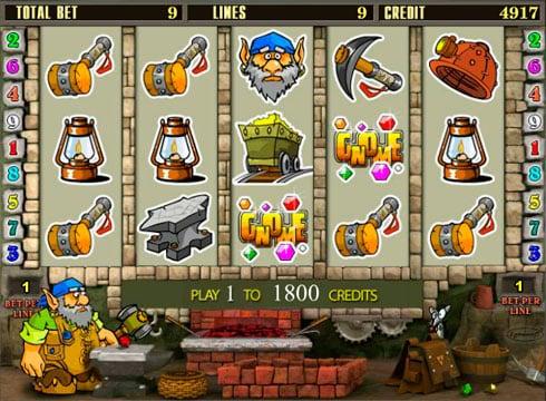 Играть онлайн игровой автомат гном
