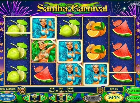 Игровые автоматы на реальные деньги - Samba Carnival