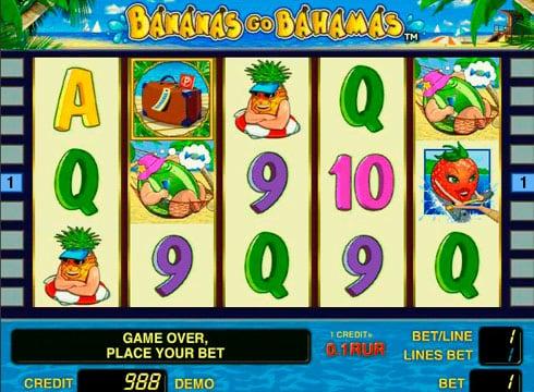Игровые автоматы на реальные деньги с выплатами - Bananas go Bahamas