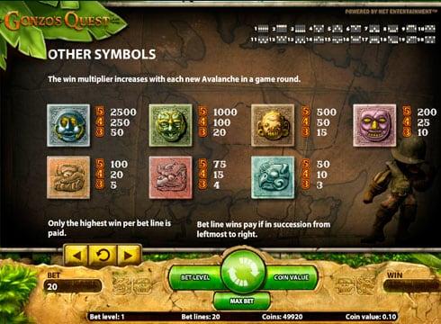 Игровой автомат Gonzo's Quest на деньги с выводом