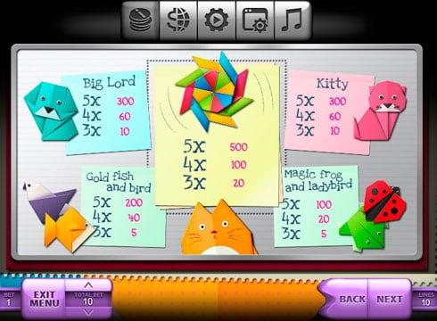 Игровой автомат Origami – играть онлайн на деньги