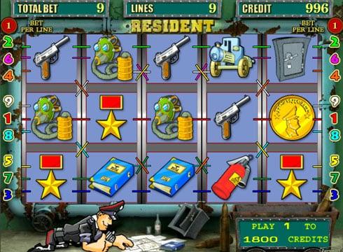 Игровые автоматы онлайн на деньги с выплатами – Resident