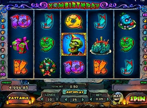 Игровые автоматы на реальные деньги - Zombirthday