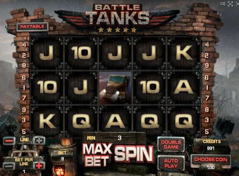 Игровые автоматы на деньги - Battle Tanks онлайн