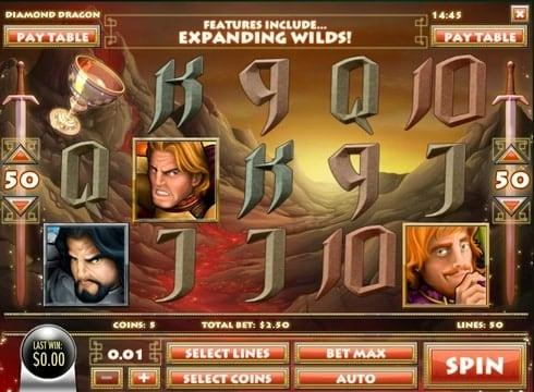 Игровые автоматы онлайн на деньги - Diamond Dragon