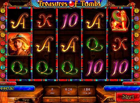 Игровые автоматы на деньги – Treasures of Tombs Bonus